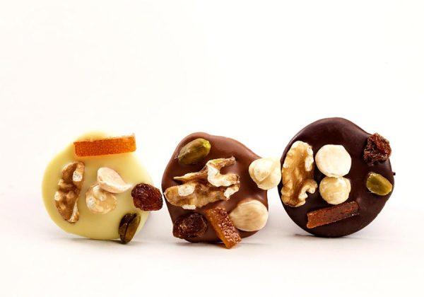 Gotas de chocolate variadas