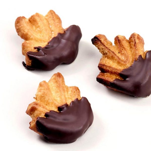 Detalle de las tximeletak de chocolate